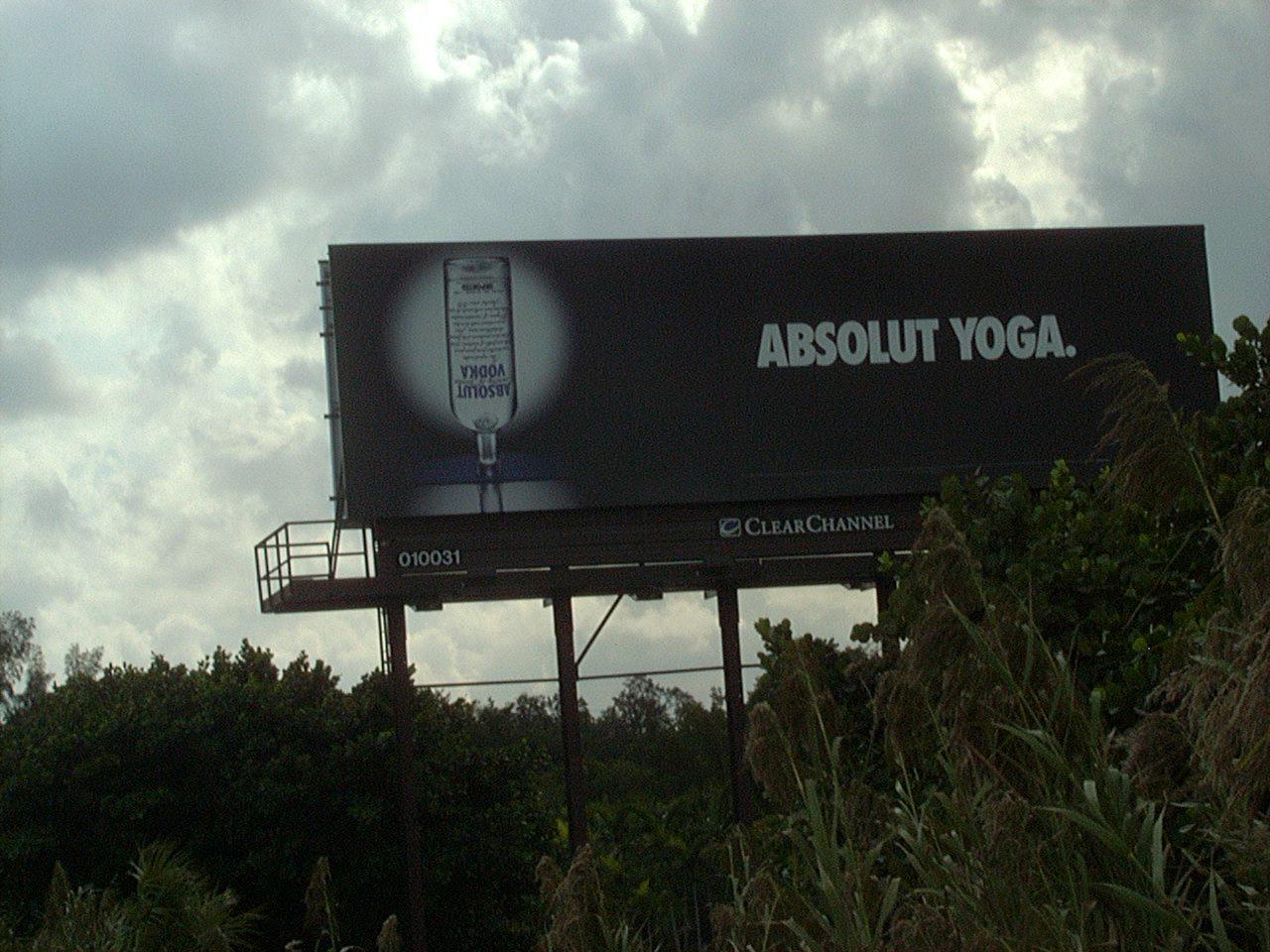 Absolute Yoga vodka pix