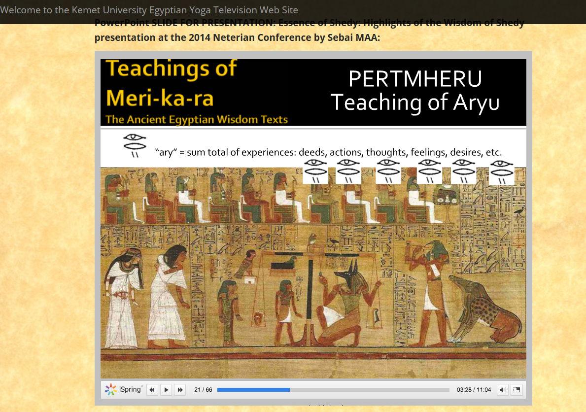 slide from Shedy Wisdom presentation showing aryu
