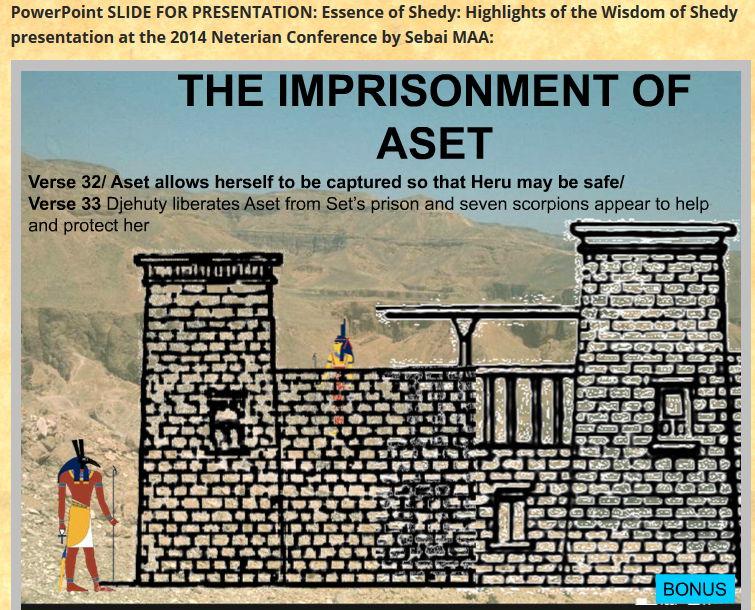 slide from 2015 shedy presentation-jailing of Aset by Set