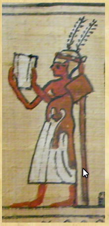 Lecture priest with feather crown - Book of the Dead, Egyptian Museum,  London, British Museum