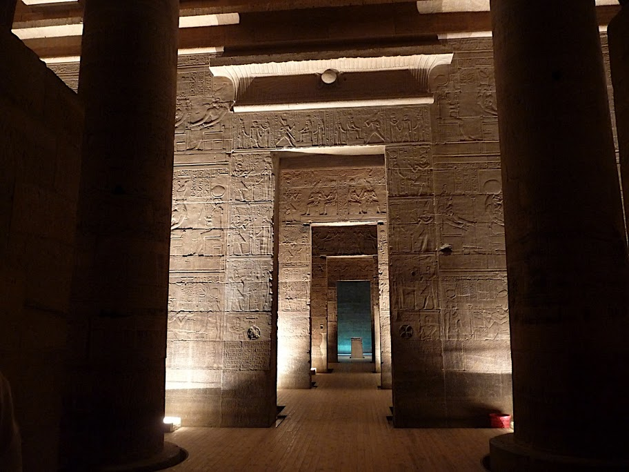 Temple of ISis interior present day with wood floor