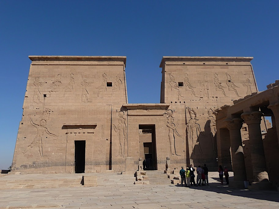 Temple of isis Outer pylon, Gate of Ptolemy