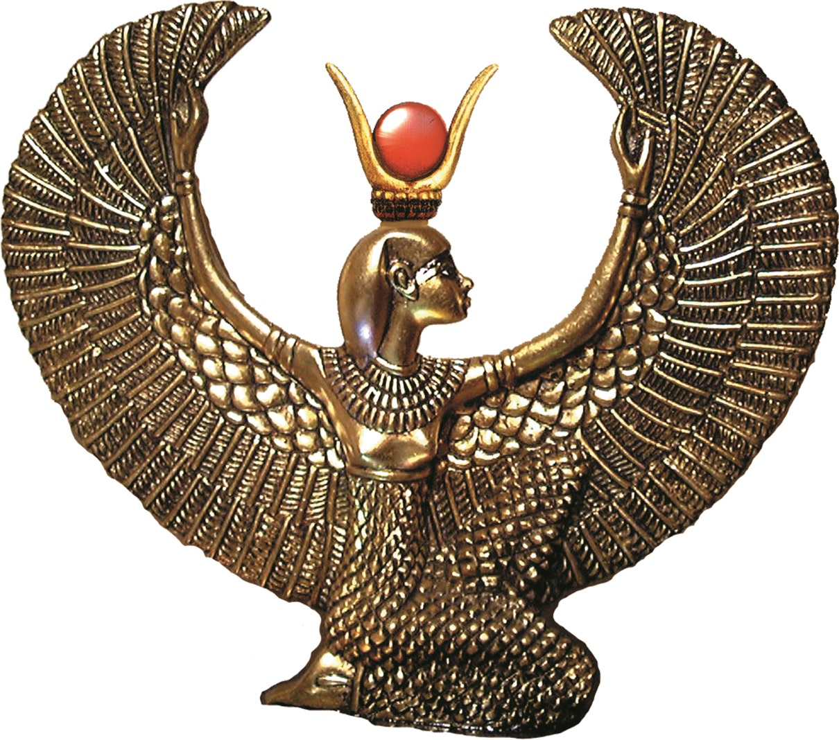Aset winged brass