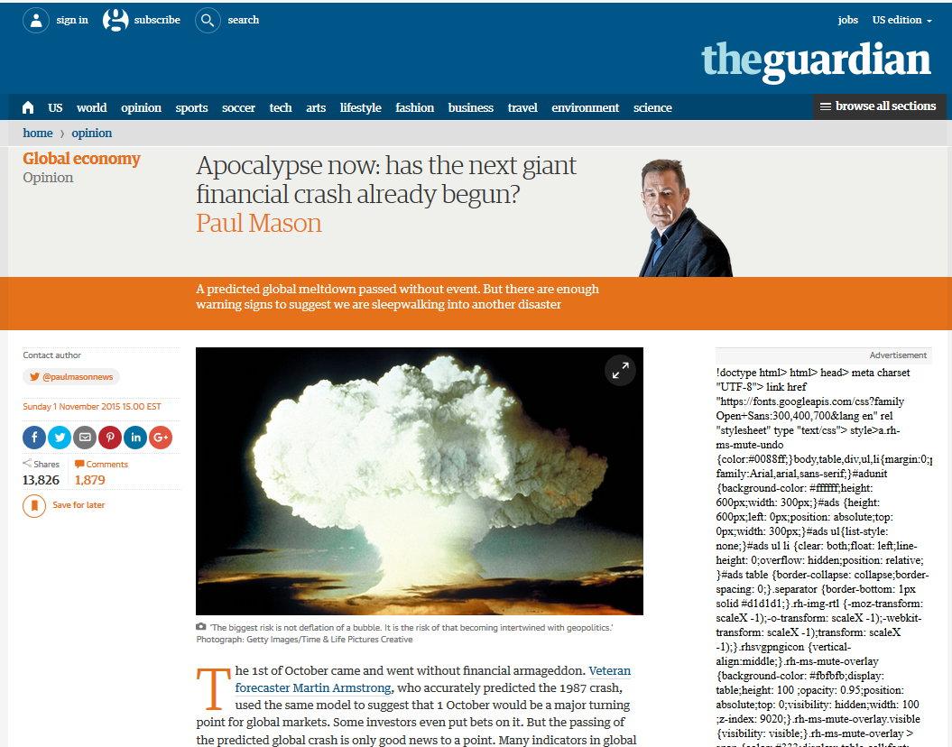 Guardian -Next financial crash has started