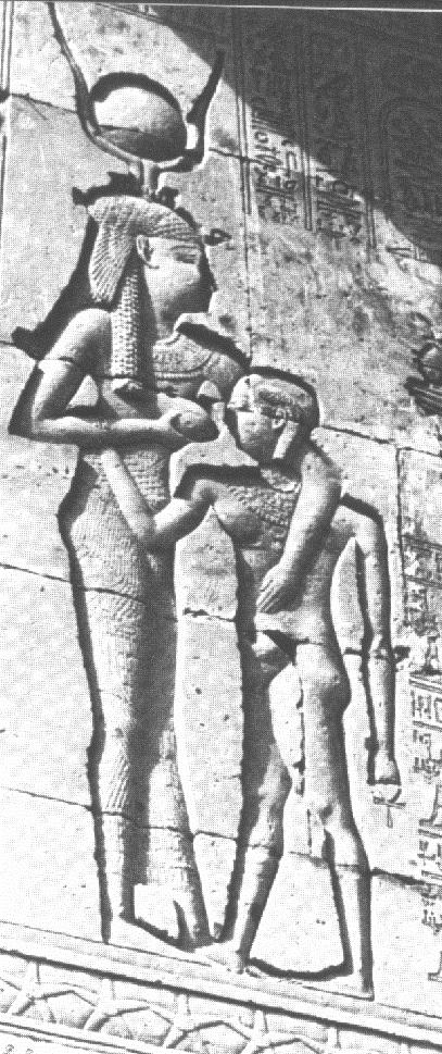 Hathor suckling Horus