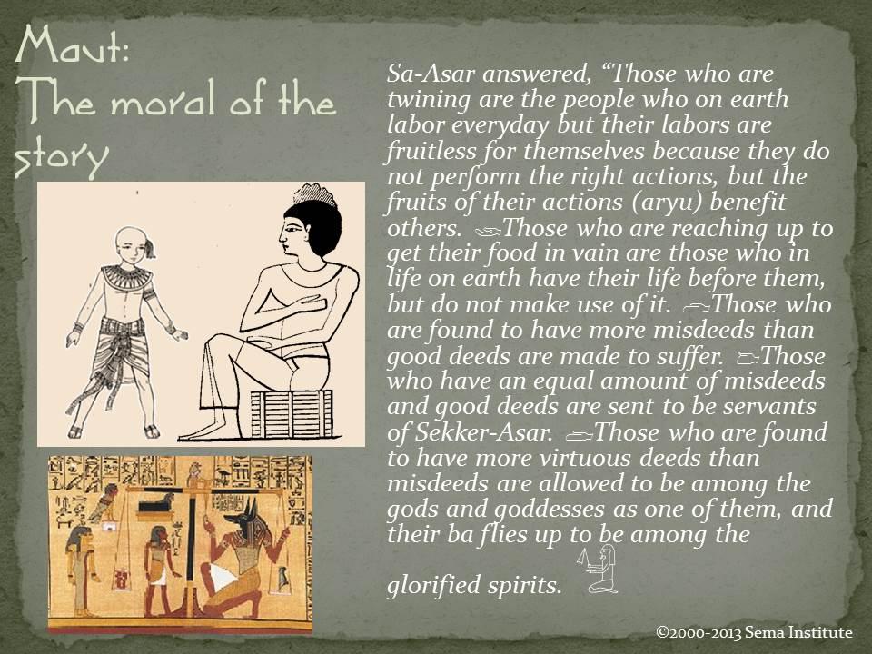 Myth Story of Sa Asar Moral of the story
