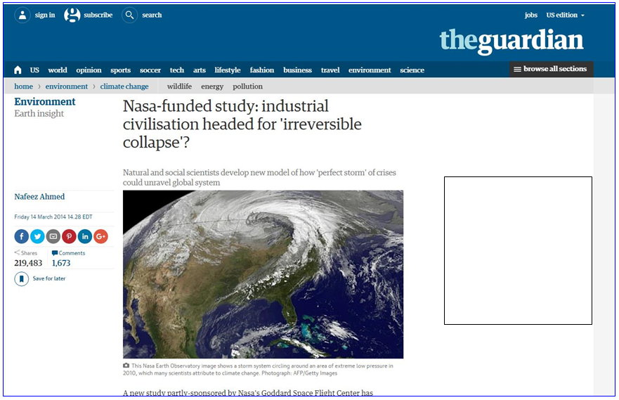 Nasa study end of civilization
