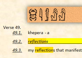 khepera - reflections of Ra from Scripture of Aset and Ra